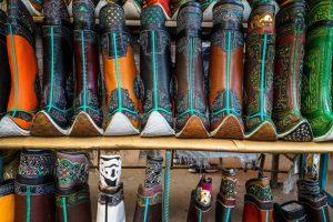 Mongolian boots at the Naran Tuul black market