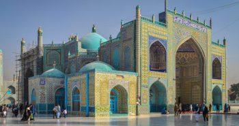 The Shrine of Hazrat Ali in Mazar E-Sharif Afghanistan