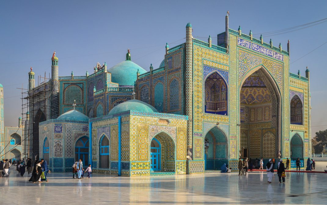 The Shrine of Hazrat Ali in Mazar E-Sharif Afghanistan